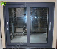 80 series gray color aluminum sliding window