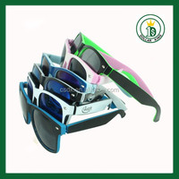 free sample Sunglass new fashion with Company Name Promotion Cheap colorful plastic Sun glass for man and woman