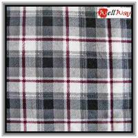 2015 red black ande white check 100cotton fashion flannel fabric for adult