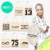 2014 New Style ecru canvas bag eco - different prints Custom printed shopping bag