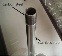 Landscape fence stainless steel clad/lined pipe(inner carbon steel /outer stainless steel)