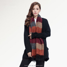 >>> 2015 Fashion Winter Design Women Shawls and Scarves Stripe Scarf Tassel /