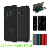 Auto Sleep Wake Smart Flip Cover TPU Case Dot View Cover For HTC One M8 Case Phone