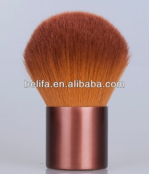 Hot brown synthetic hair kabuki brush