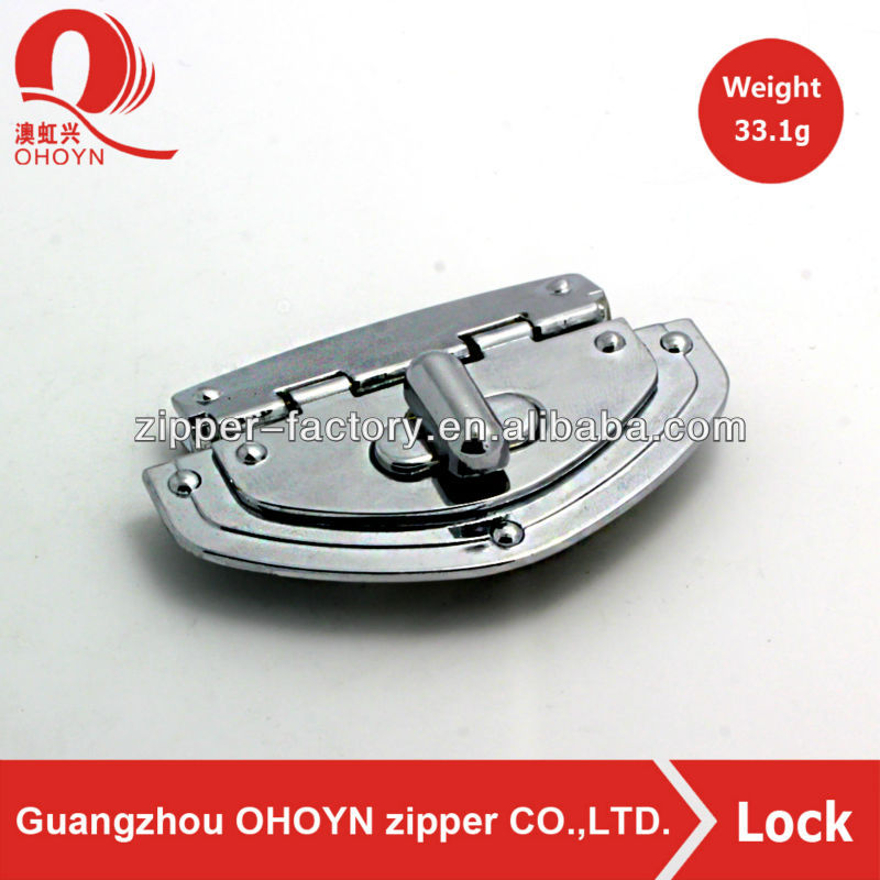 Promotional metal twist lock fasteners