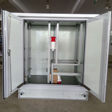 FRP Outdoor Telecom Equipment Cabinet With Battery Rack