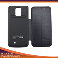 super charger solar mobile phone battery charger case for Samsung note 4