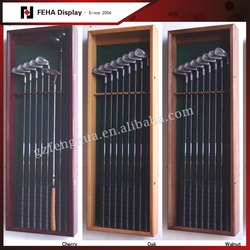 Retail store wooden golf club display rack for sale