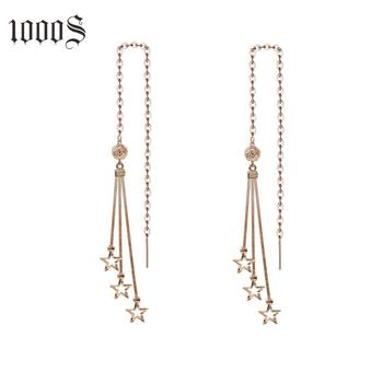 High Quality New Arrival Gold Earrings Jewelry Five Stars 18K GoldShiny Star Shaped Earrings For Women