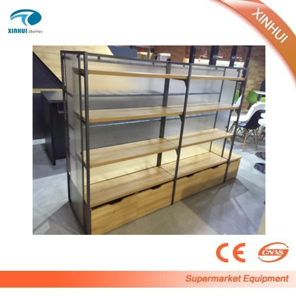 Retail store/supermarket/grocery wooden diaplay shelf