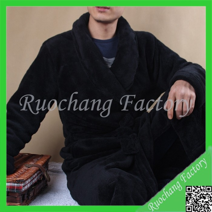 Promotional Hilton Hotel Cotton Quilted Mens Silk Bathrobe