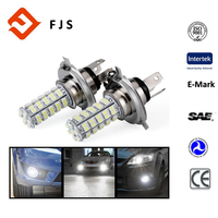2 PCS Car H4 68 SMD LED 6000K Xenon Super White LED 12V Headlight Bulbs Lamp or Daytime Running Lights Lighting DRL