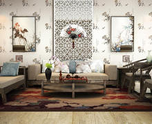 Eco environment vinyl wallpaper new catalog design Chinese character wallpaper