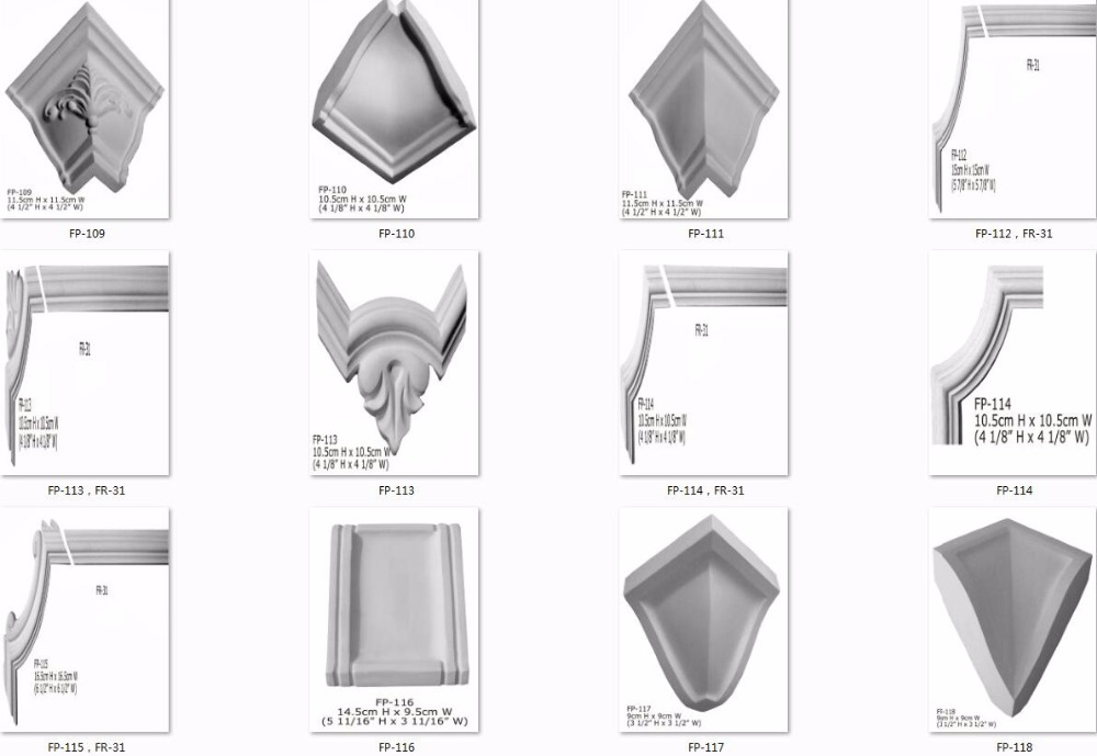 Polyurethane High Density Beautiful Cheap Decorative PU corner ceiling moulding