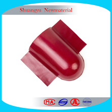 End cap of synthetic resin roof tile