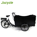 High quality electric cargo bike with a lengthened seat