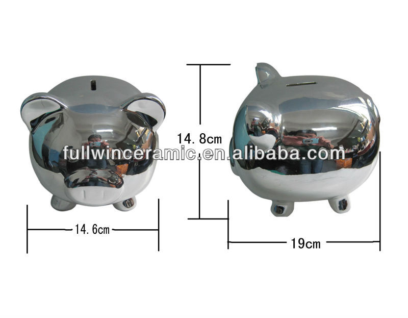 Ceramic Electroplated Piggy Banks