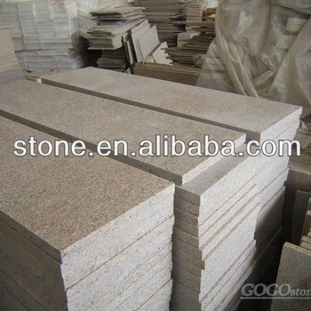 Flamed Rustic Yellow G682 Granite Pavers G682 granite paving stone