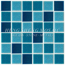 Blue Ice Crackle Swimming Pool Porcelain Mosaic Ceramic Tile