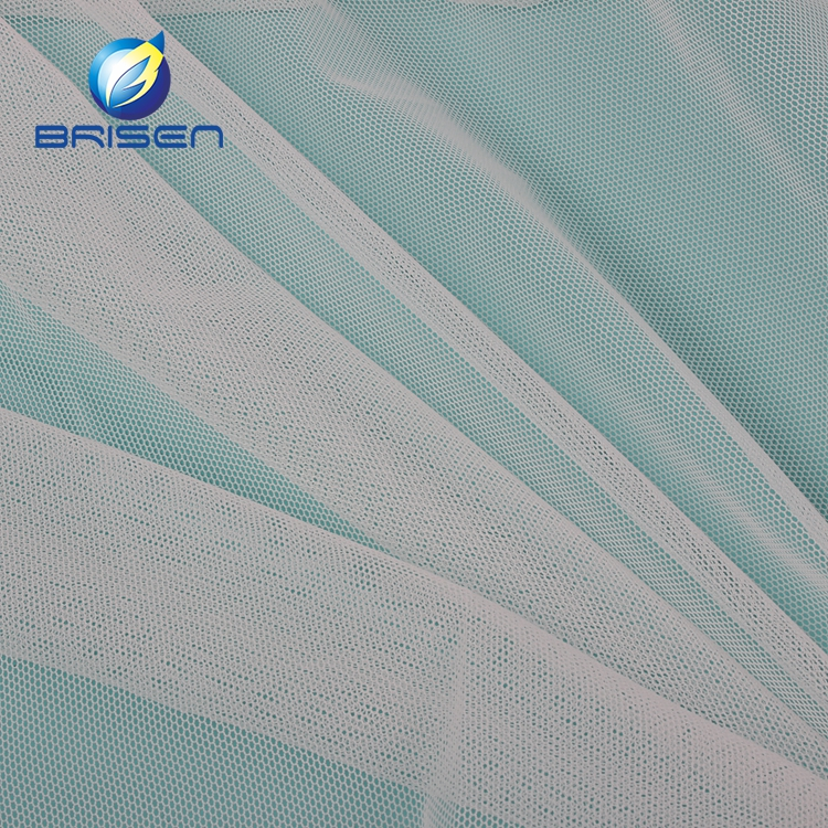 wholesale 30D 100 nylon Bridal Tulle white net fabrics For wedding,Underwear