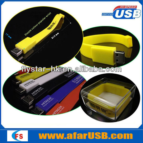 Wholesale cheap price silicone usb bracelet