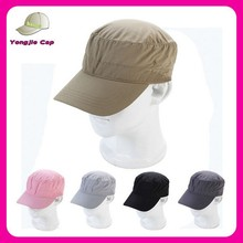 good quality quick drying polo sports caps hats flat top sport baseball cap wholesale