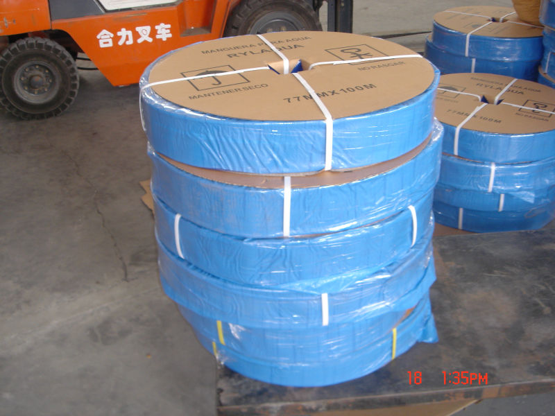 blue color agriculture water pipe PVC lay flat hose inch diameter PVC soft pipe from china supplier 2 inch irrigation hose