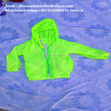 2017 used clothing / attractive children sports jacket sold popular in congo / african clothing