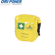 OP manufacture FDA CE ISO approved OEM&ODM customized first aid supplies PU leather motor bicycle emergency kit