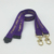 Fancy Customised Promo Purple Double Clips Key Hold Security Lanyards