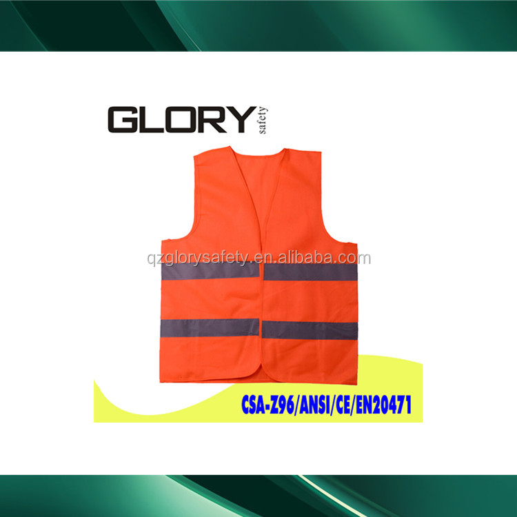 Quzhou Glory orange vest reflex vest orange vest