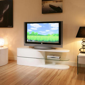 Modern white lacquer TV stand living room TV set