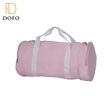 OEM custom foldable pink canvas gym sports rolling duffel bag