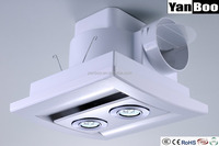 Bathroom window Ducted Exhaust Fan with LED Light