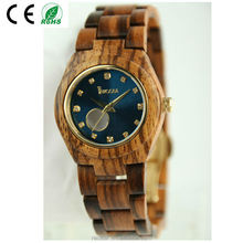 Vogue Lady Wood Watch, Visible Mechanical movement watch wood