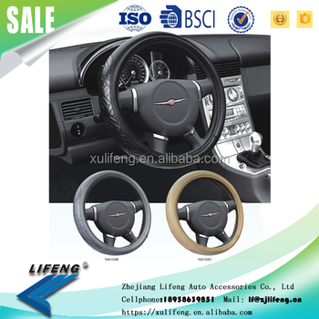 2016 year new design geniune leather material four seasons comfortable driving 16A104 steering wheel cover