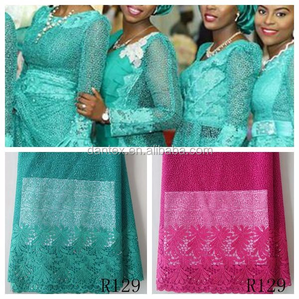 R129 Classical guipure style popular african lace fabrics embroidery/ nigeria laces/ lace material for sale