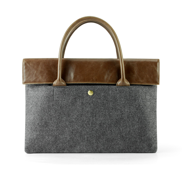 Alibaba Factory Direct Sale Business Bags <strong>Utility</strong> Fashionable Felt Laptop Handbag