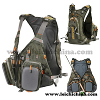 Best quality waterproof fly fishing vest pack backpack
