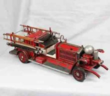 Cheap Antique Vintage Metal Fire Engine Model