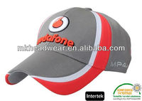 Ottoman fabric 100% polyester baseball cap hat with 3D embroidery