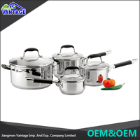 8pcs cookware sets kitchen accessories cookware stainless steel with silicone handle