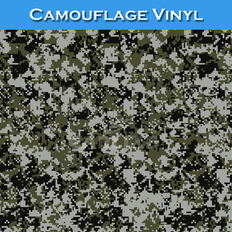 CARLIKE High Quality Air Bubble Free Camouflage Foil Vinyl Car Wrap Paper