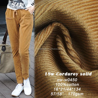 98%Cotton2%spandex/stretch reactive dye 14wales corduroy woven fabric for jackets and pants,cotton spandex corduroy