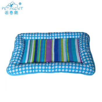 Rectangular summer pet dog mat with strip pattern