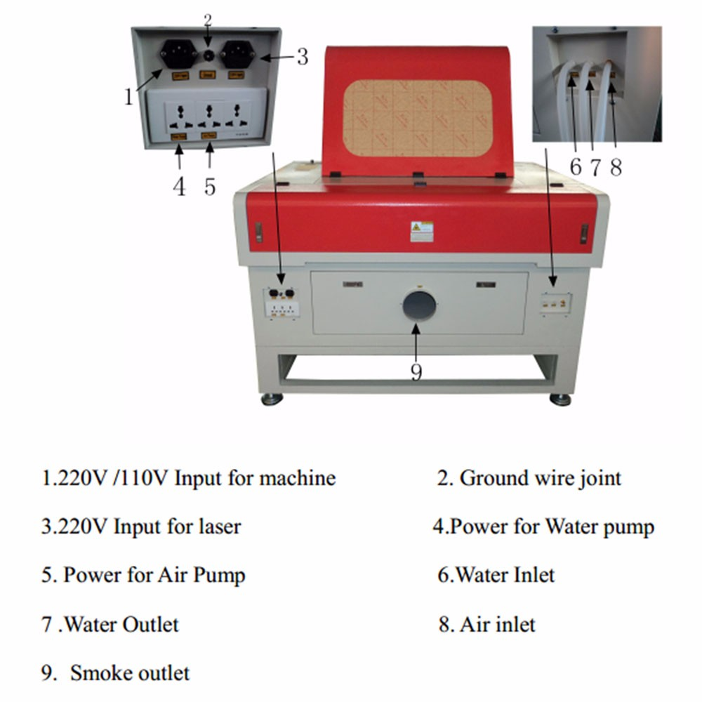 wood fabric leather co2 laser marking machine