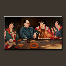 High quality pure hand-painted oil paintings of famous people self-portrait of Chairman Mao