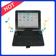 For Ipad 2 Cover with Keyboard and Stereo Speaker