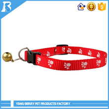 Wholesale Products 5 Size 3 Colors Cute Footprint specialized dog collars
