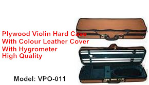 deluxe Leather cover oblong plywood violin hard case